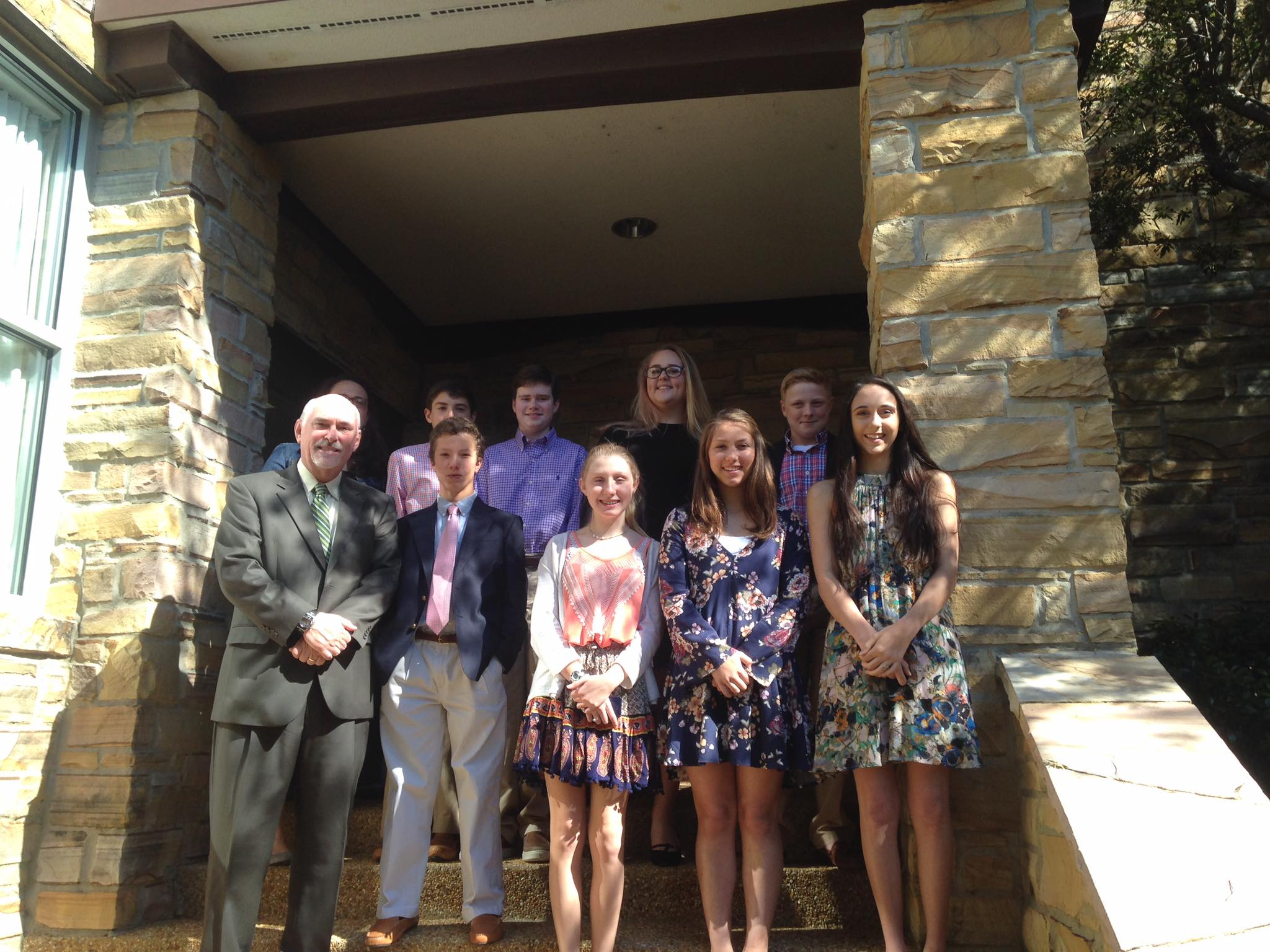 Our 2017 Confirmation class on Palm Sunday!!