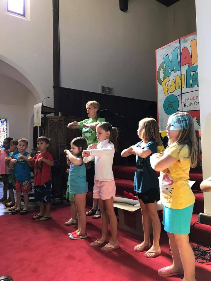 Last day singing at VBS!! #makerfunfactory