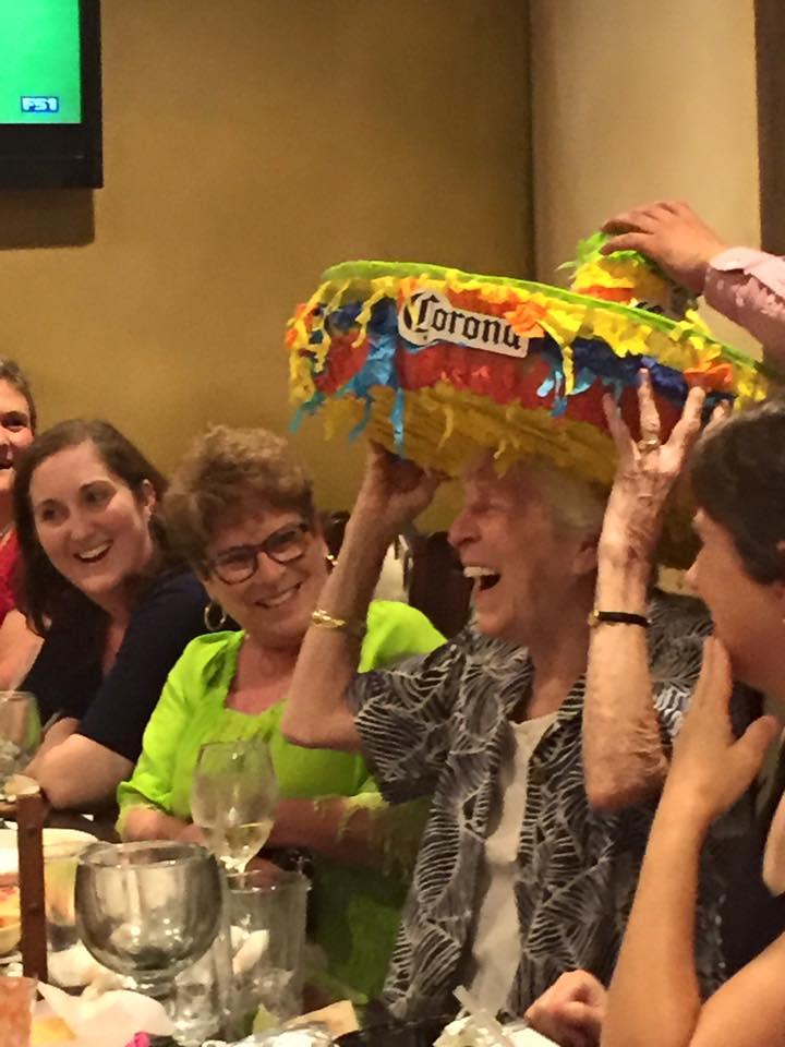 Celebrating Sarah Young's birthday at Ladies Night Out! Happy birthday Sarah!