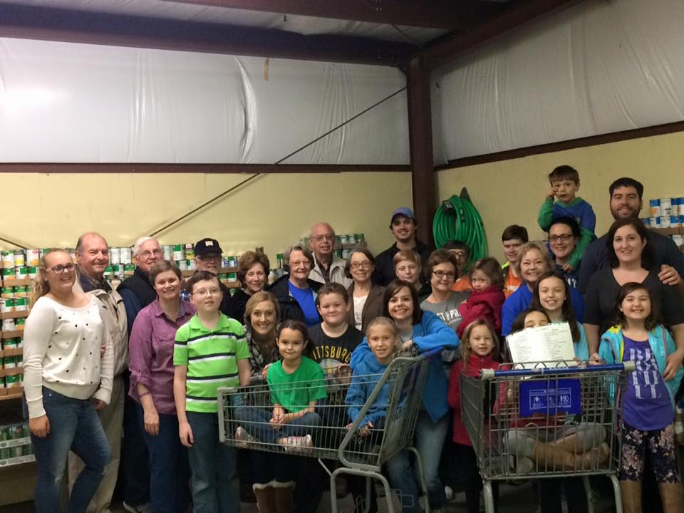 FPC team helping at Helping Hands this morning. Go team!